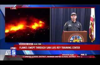 Lilac Fires: Cal Fire press conference