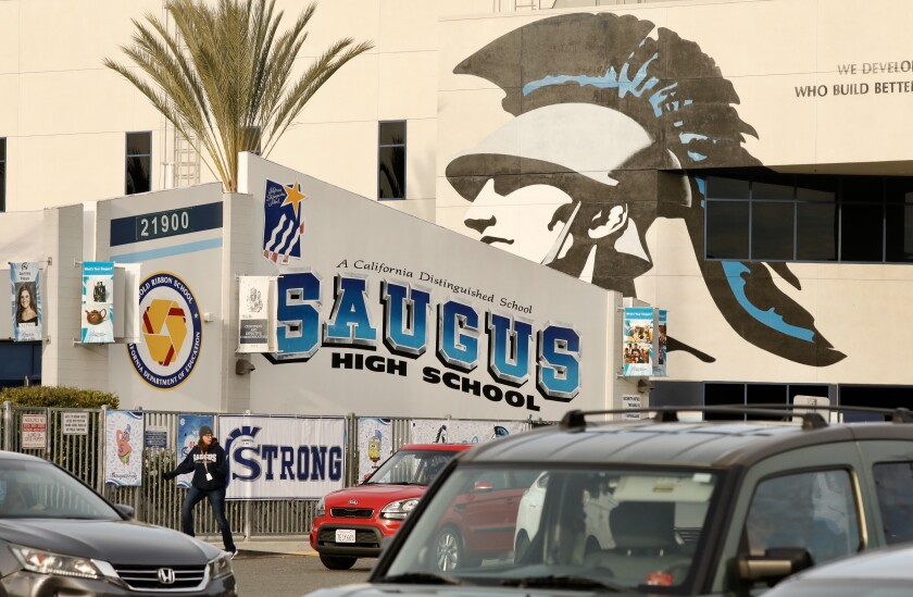 Students returned to Saugus High School