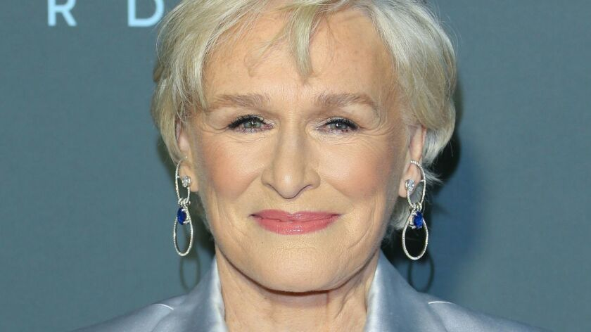 """Glenn Close was the lead actress winner for """"The Wife"""" at the Critics' Choice Awards in Santa Monica on Jan. 13. She is also nominated in that category at the upcoming Academy Awards."""