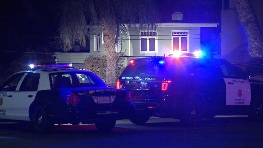 Police surrounded a Park West residence in a SWAT standoff. / Greg Torkelson / San Diego News Video