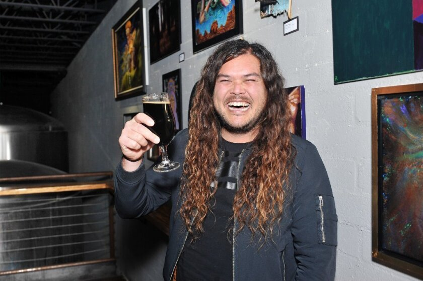 Gareth Moore of The Young Wild grabbed a beer with us at Mike Hess Brewing in North Park (Rick Nocon)