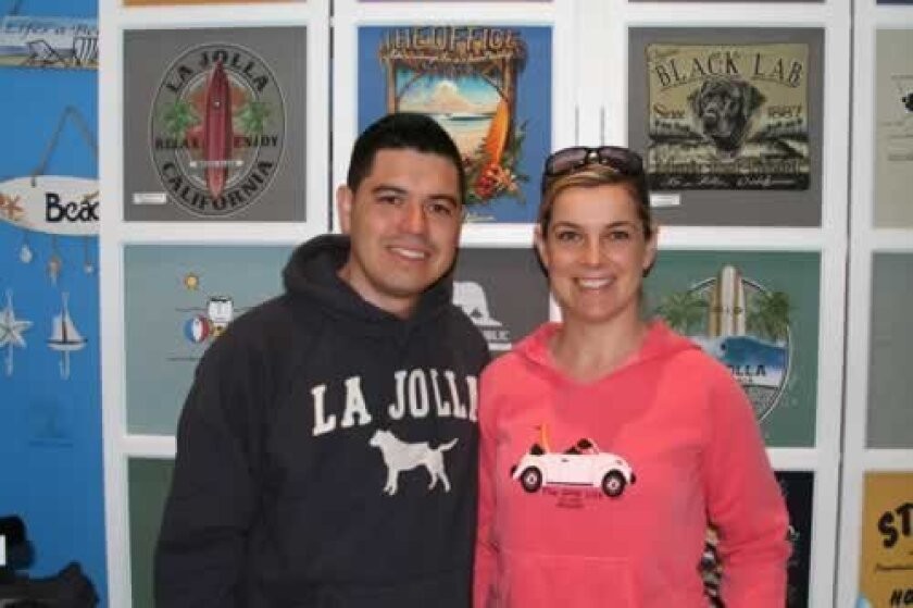 Blue Apparel co-owners Jonathan Guevara and his wife Karina Kaczynska. BIZSPOTLIGHT