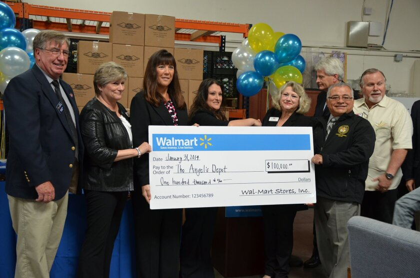 The Angel's Depot received a $100,000 donation from the Walmart Foundation.