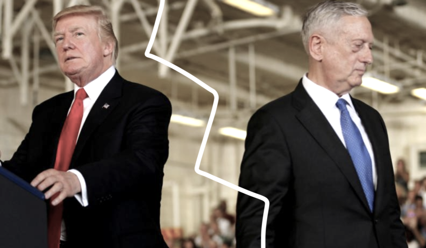 El presidente Donald Trump y el secretario de Defensa, James Mattis... diferentes caminos.