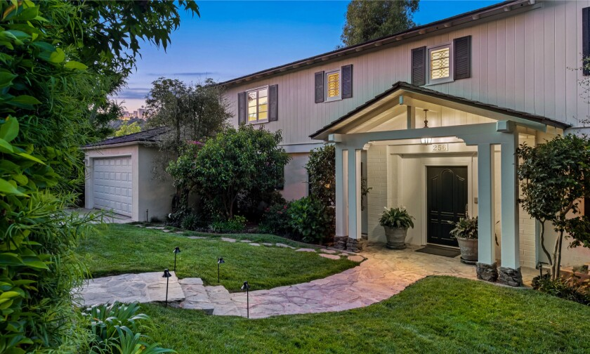 This two-story traditional sits directly behind Blake Griffin's other Brentwood home, a modern farmhouse.
