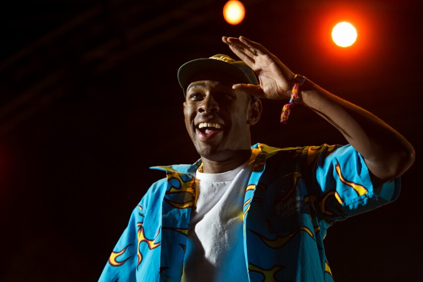 Tyler, the Creator performs at the Coachella Valley Music and Arts Festival in 2015. The Los Angeles rapper has been denied entry into the United Kingdom.