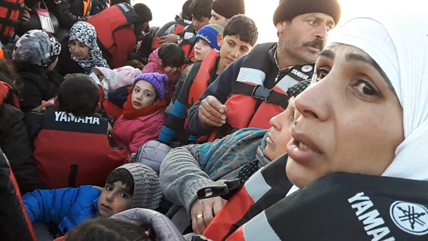 The Mohammad family on one of their many attempts to cross over the Mediterranean into Greece as see