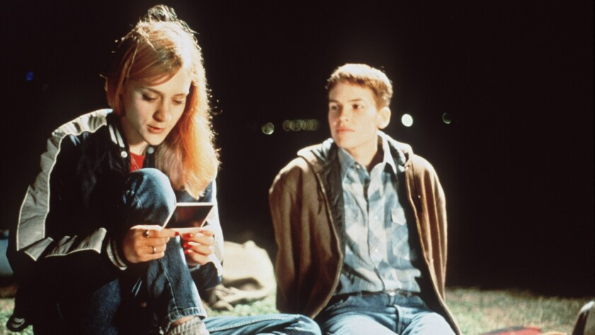 "Chloë Sevigny, left, and Hilary Swank in ""Boys Don't Cry."""