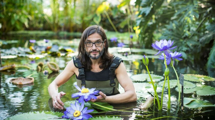 """Carlos Magdalena, whose book is """"The Plant Messiah"""""""