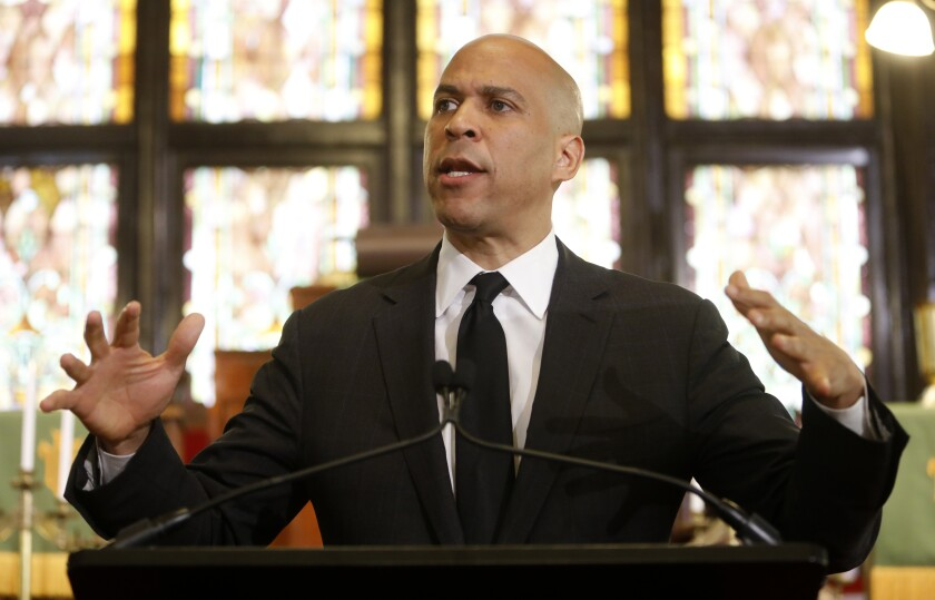 Democratic presidential candidate Cory Booker is on the verge of quitting the 2020 presidential race if he can't raise more money quickly, an aide says.