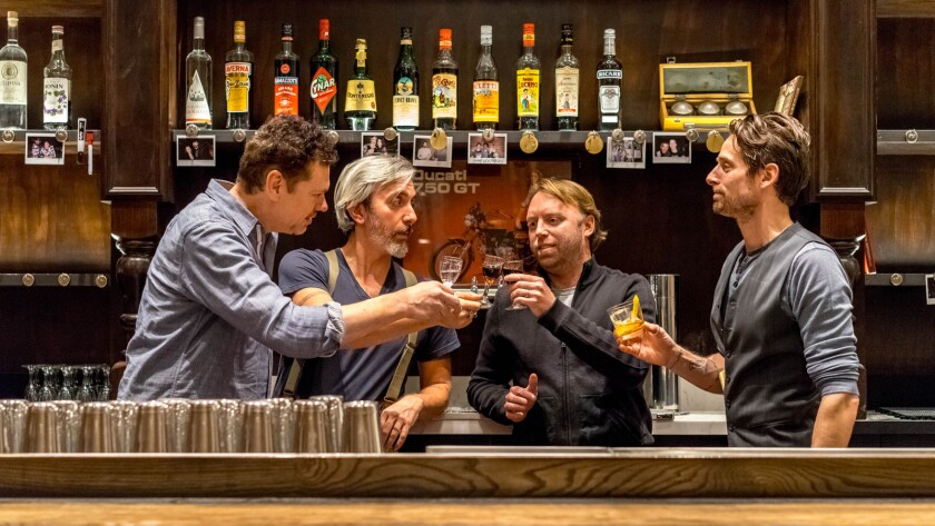 The bar dream team behind the new Bar Clacson in downtown L.A. includes, from left, Cedd Moses, Richard Boccato, Eric Needleman and Eric Alperin.