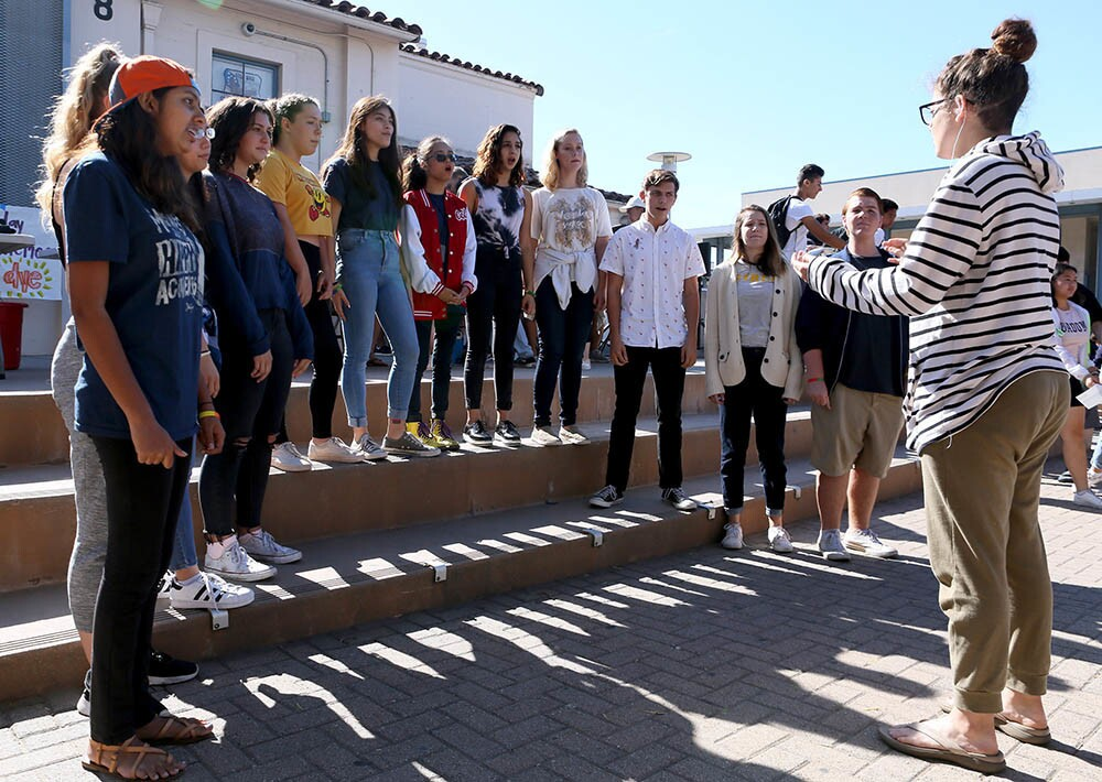 Photo Gallery: CVHS choir performs at school's Ally Week event