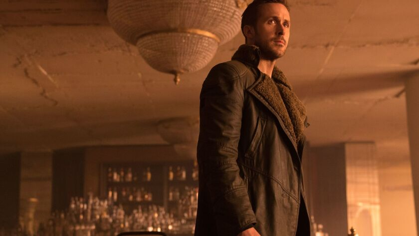 """Caption: (L-R) RYAN GOSLING as K in Alcon Entertainment's action thriller """"BLADE RUNNER 2049,"""" a Wa"""