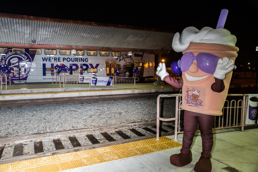 Coffee Bean & Tea Leaf takes over Union Station for National Coffee Day with coupons for free coffee and more.