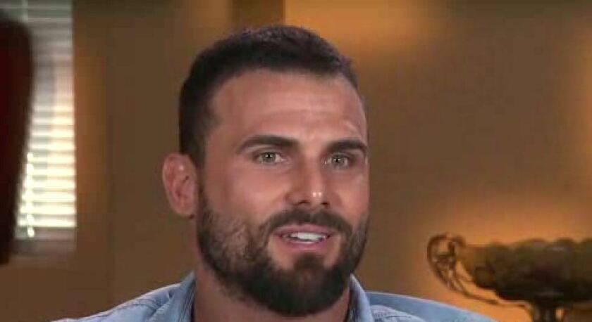 """Jeremy Jackson, former """"Baywatch"""" star, was arrested on suspicion of stabbing another man in Westlake."""