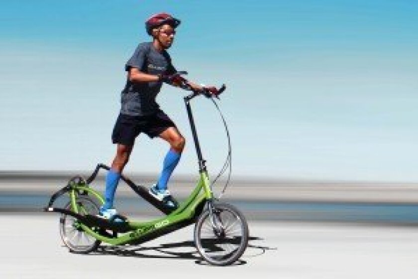 2014 Boston Marathon winner Meb Keflezighi uses the ElliptiGO for cross-training. Courtesy photo