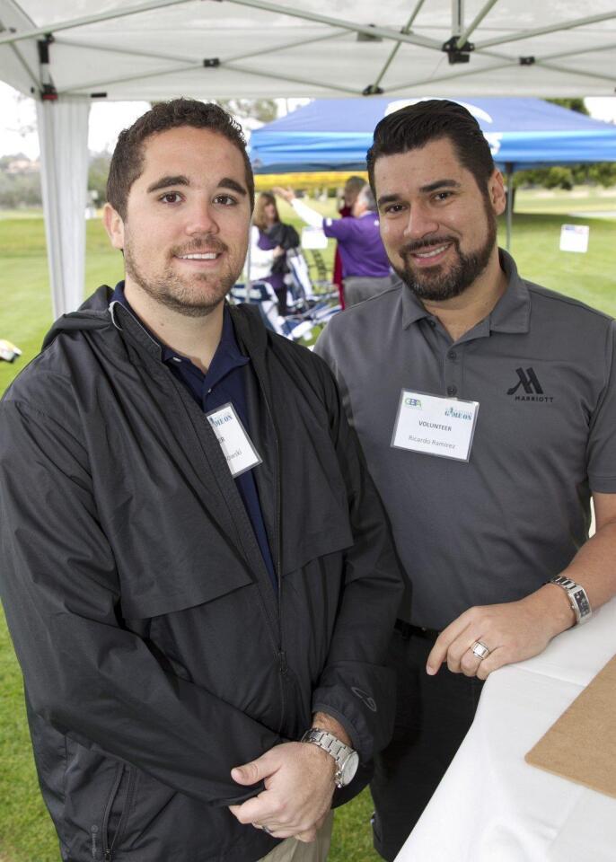 Volunteers Andrew Pawlowski and Ricardo Ramirez