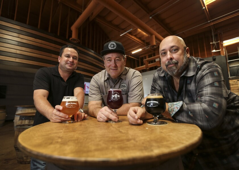 Wild Barrel Brewing partners (left to right) President Chris White, Dir. of Brewing Operations Bill Sobieski, and CEO Bill Sysak. (Jamie Scott Lytle)