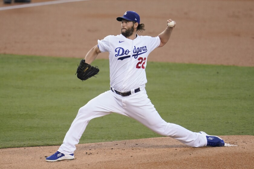 Left-hander Clayton Kershaw reached 2,500 career strikeouts and the Dodgers picked up another win Sept. 3, 2020.