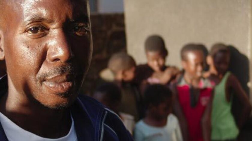 """History teacher Knox Sonopai is witness to the rapid depletion of educators at Mufakose 3 High School. """"You'd come to school and someone's not there and next thing you hear, he's gone,"""" he said."""