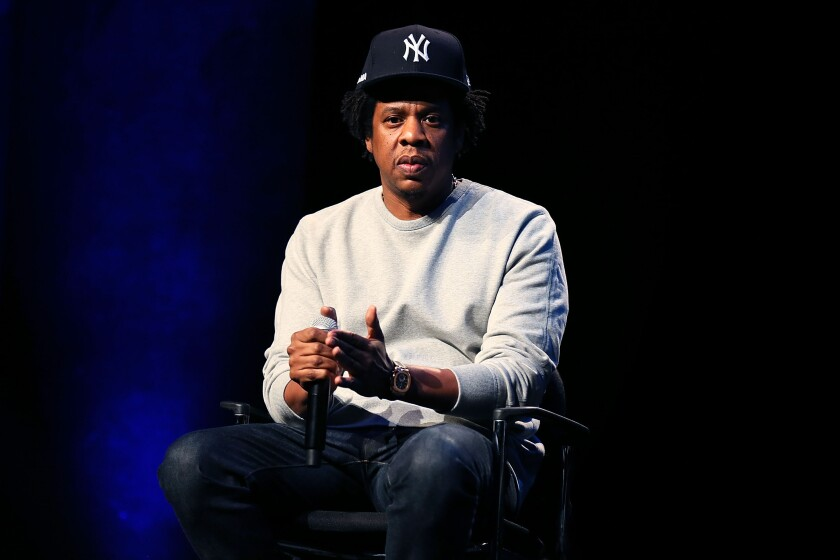 Jay-Z attends the Criminal Justice Reform Organization Launch at Gerald W. Lynch Theater in New York on Jan. 23.