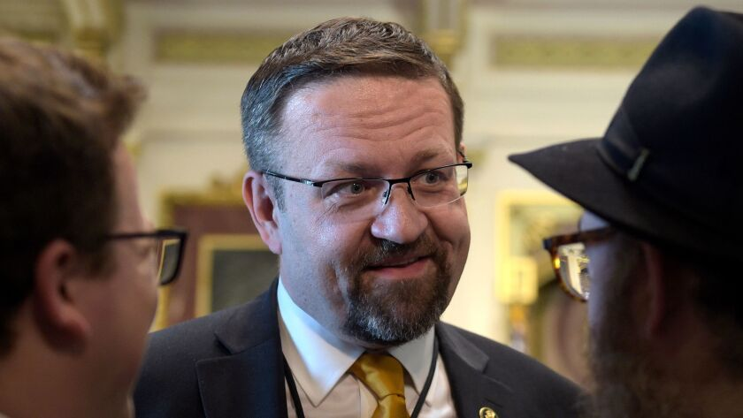 Sebastian Gorka at a White House ceremony on May 2 commemorating Israeli Independence Day.