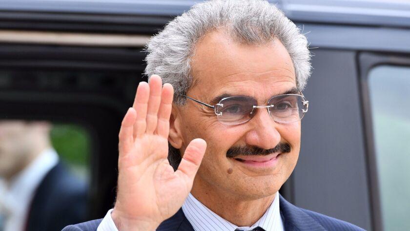 Member of the Saudi royal family Al-Waleed Bin Talal bin Abdulaziz al Saud in Paris