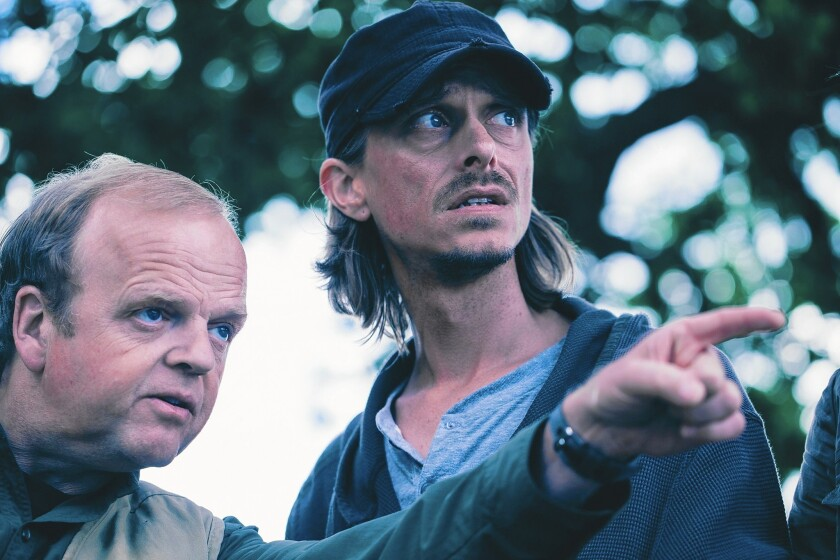 """Toby Jones, left, and Mackenzie Crook in a scene from BBC's """"Detectorists."""""""
