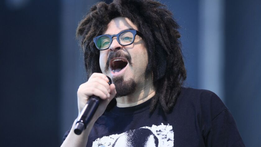 Adam Duritz of Counting Crows is shown performing at the KAABOO Del Mar Festival.