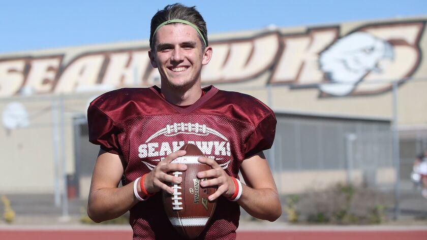 Ocean View High senior quarterback Noah Hickman is the Daily Pilot High School Football Player of th