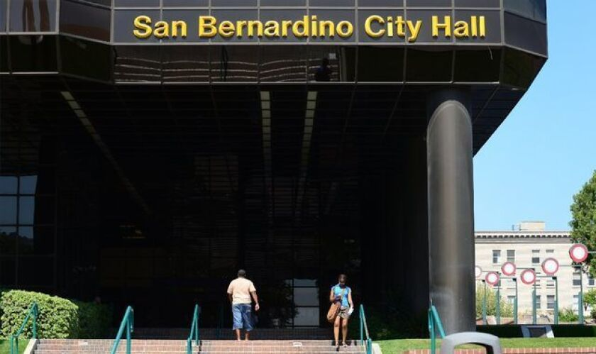 Stricken with pension costs, among other fiscal issues, the city of San Bernardino went into bankruptcy in 2012. It hopes to return to normal operations in coming months.