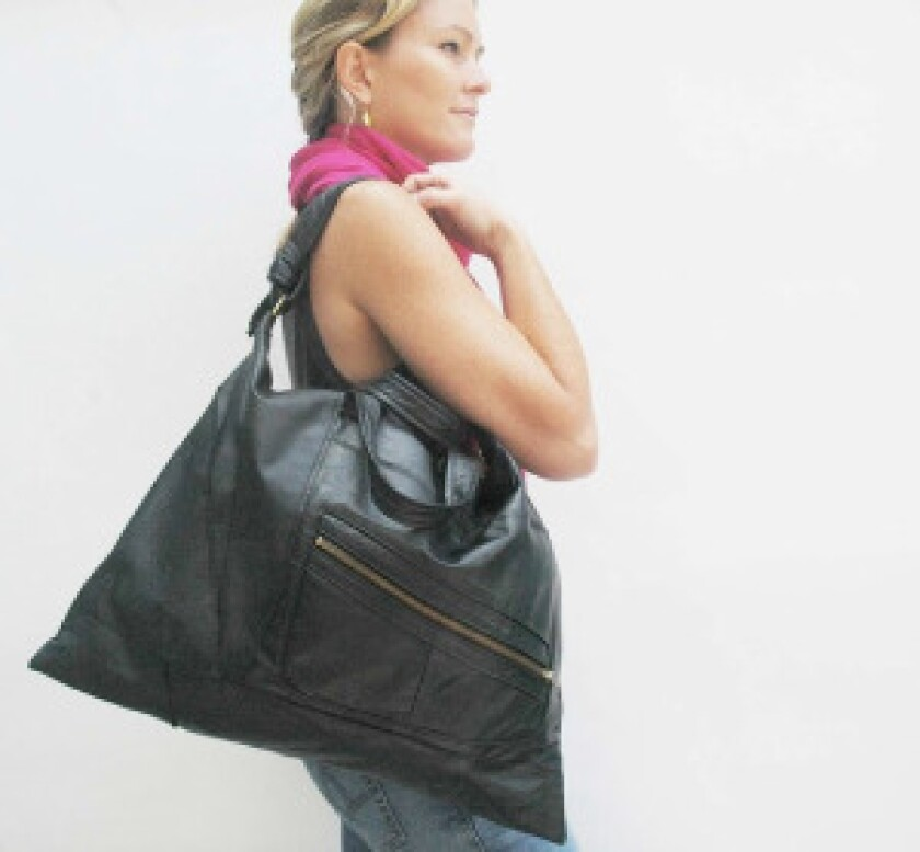 The Ashbury Bag from reMade USA, one of their upcycled handbags.