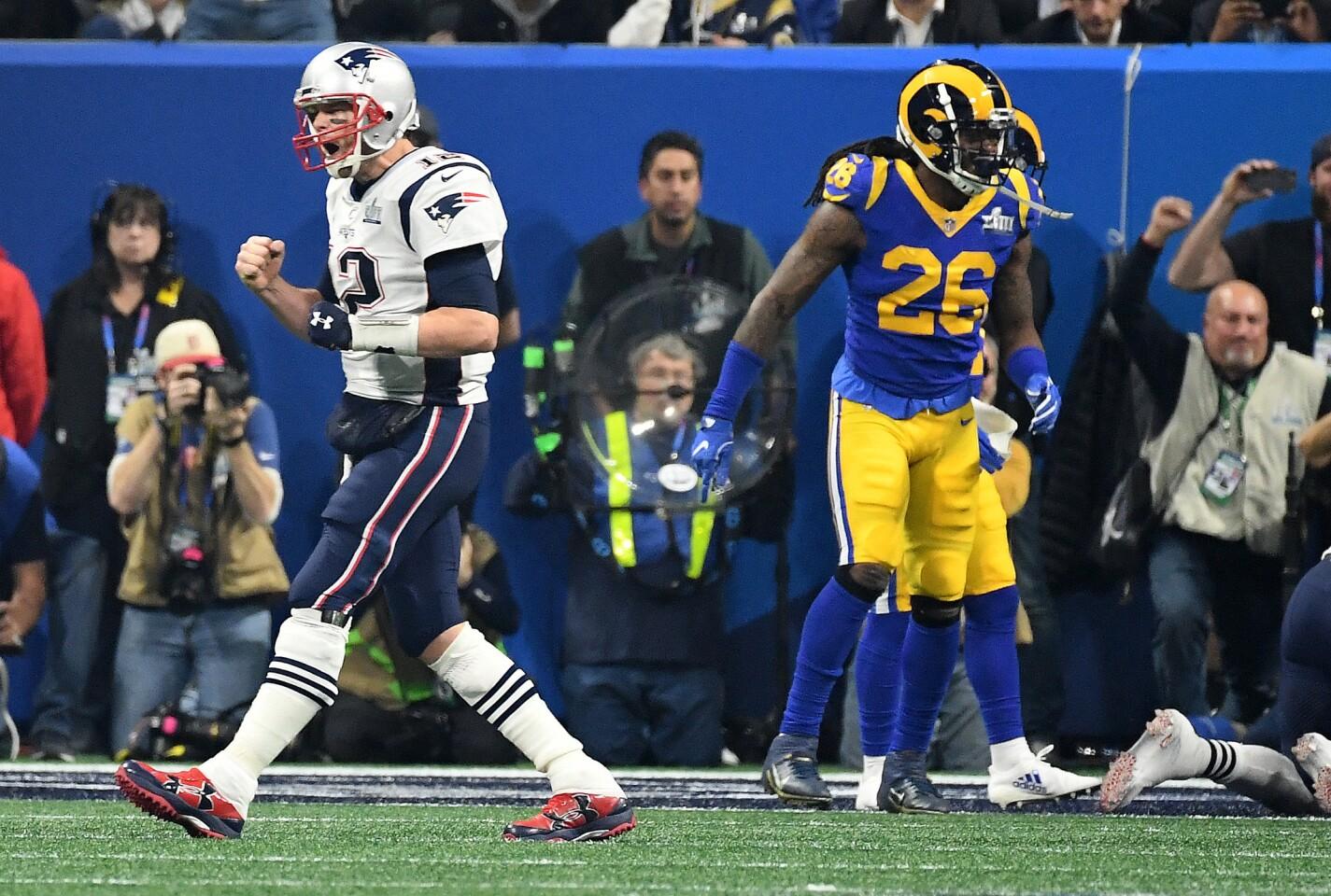 Tom Brady celebrates