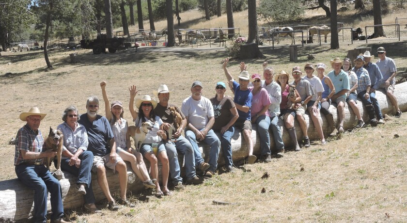Ramona Trails Association members and their guests celebrate the association's 30th anniversary at Los Vaqueros Group Horse Camp in Cuyamaca Rancho State Park during Labor Day weekend. RTA helps maintain and ensure access to existing trails and encourages development of new trails.