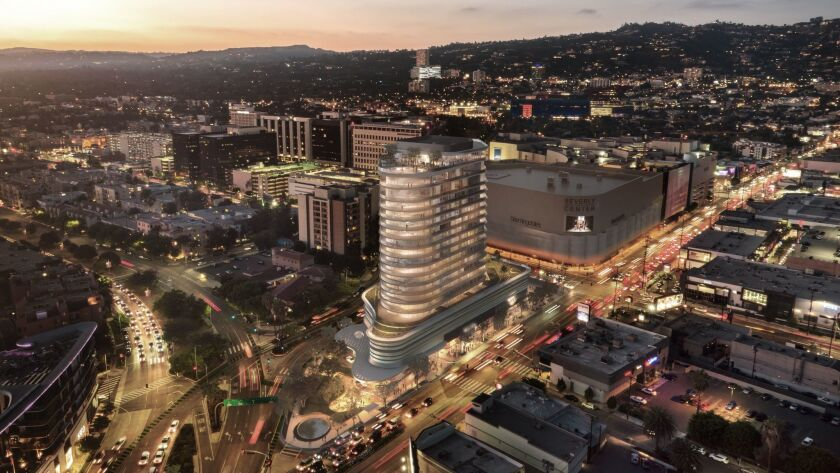 Los Angeles developer Rick Carsuo has been seeking city approval to build a luxury apartment building at 333 S. La Cienega Blvd., not far from the Beverly Center.