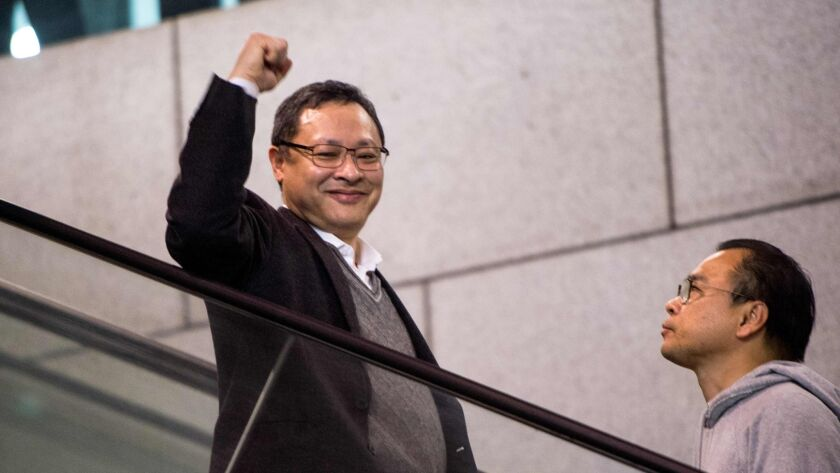 Activist Benny Tai g