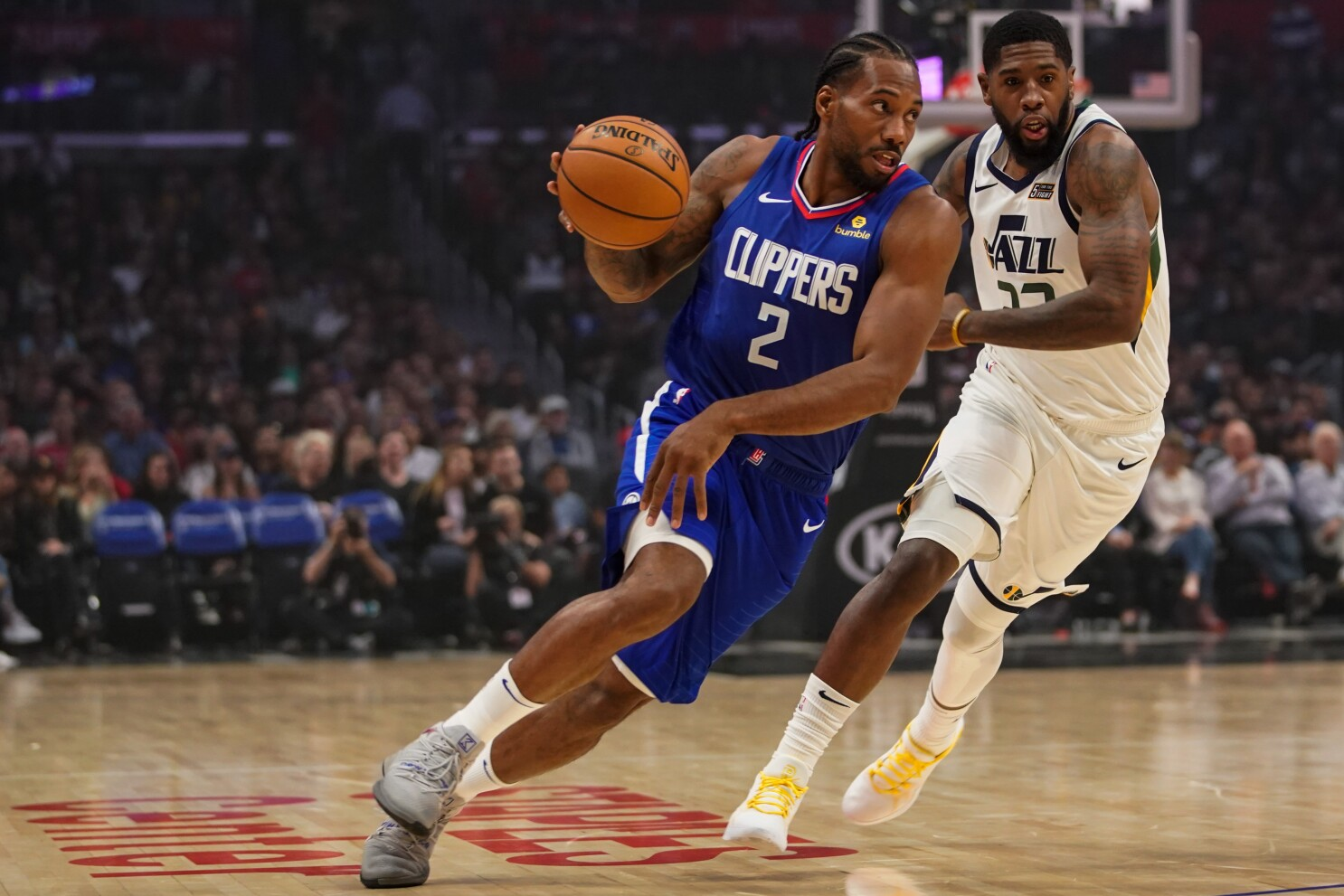 Kawhi Leonard pushes Clippers to victory over Jazz - Los Angeles Times
