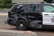 Sheriff patrol SUV t-boned by MTS trolley during intersection crash