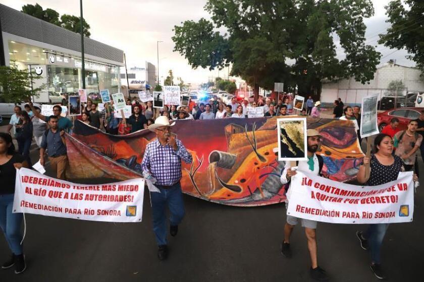 Damnificados exigen la reparación de los daños por un derrame tóxico en una mina mexicana