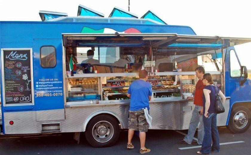 A food truck in San Diego