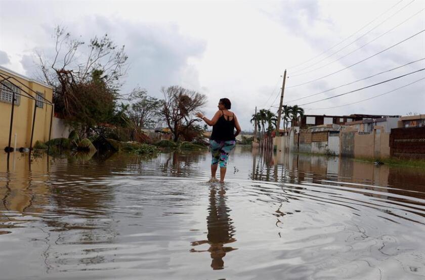 El Servicio Nacional de Meteorología (SNM) de San Juan emitió hoy un alerta de inundaciones hasta las 04.45 de la tarde para los municipios de San Juan, Guaynabo, Bayamón, Trujillo Alto y Cataño. EFE/Archivo