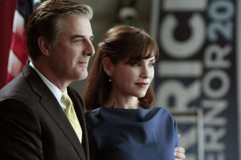 "Chris Noth and Julianna Margulies in ""The Good Wife."""
