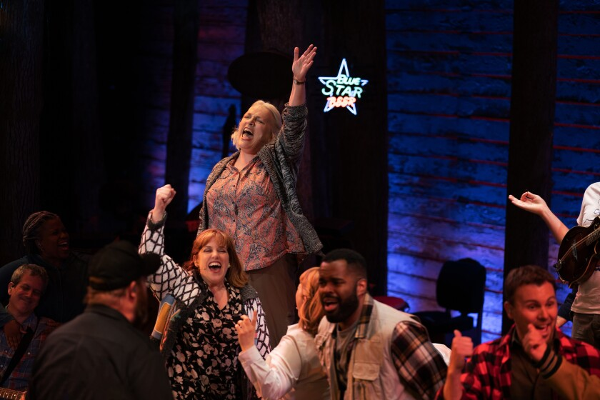 """The cast of """"Come From Away"""" perform on Broadway"""