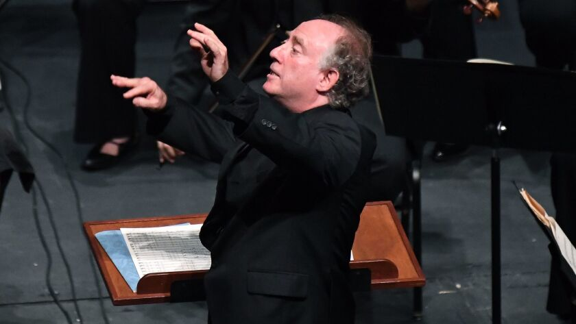 Jeffrey Kahane conducts Beethoven's Ninth Symphony at UCLA's Royce Hall in April, one of his final c