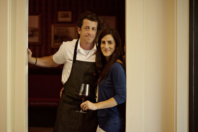 Chef Robbie Wilson and his wife, Emily, new at Mattei's Tavern in Los Olivos