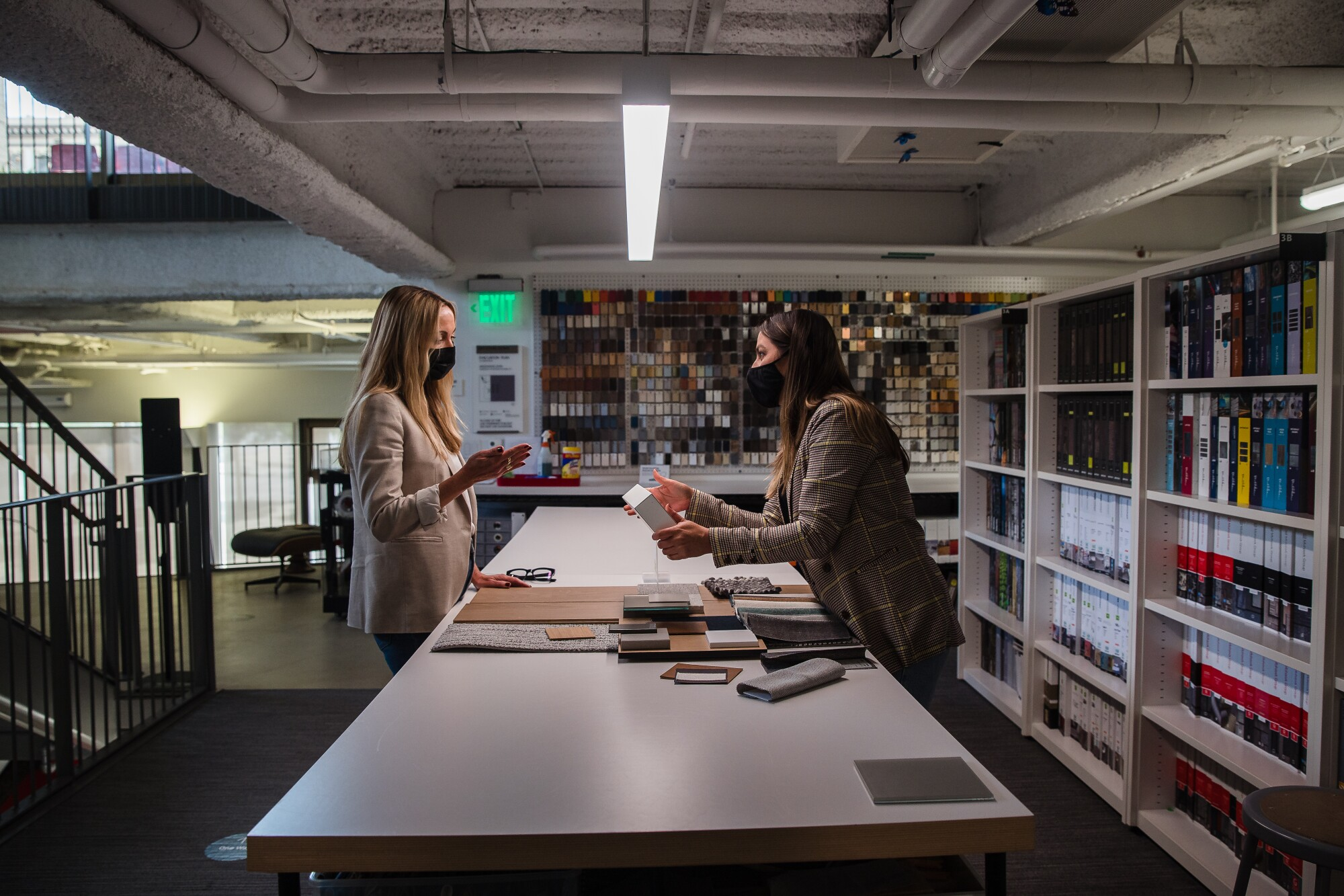 Ane Rocha and Michelle Tello at Gensler in downtown San Diego