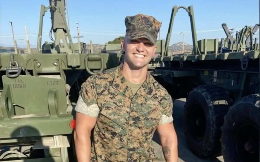 A photo of Camp Pendleton Marine Tristan King that has been used by scammers to make fake accounts to attract lonely women.
