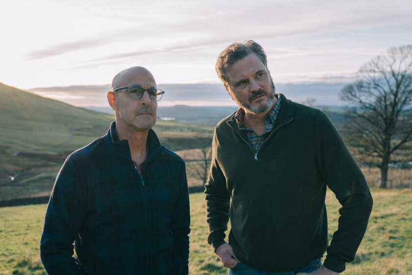 "Stanley Tucci, left, and Colin Firth in the movie ""Supernova."""