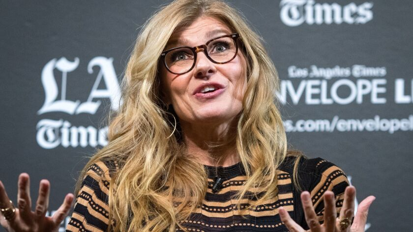 HOLLYWOOD, CA - NOVEMBER 27, 2018: Actor Connie Britton at the LA Times Envelope Live screening of ""