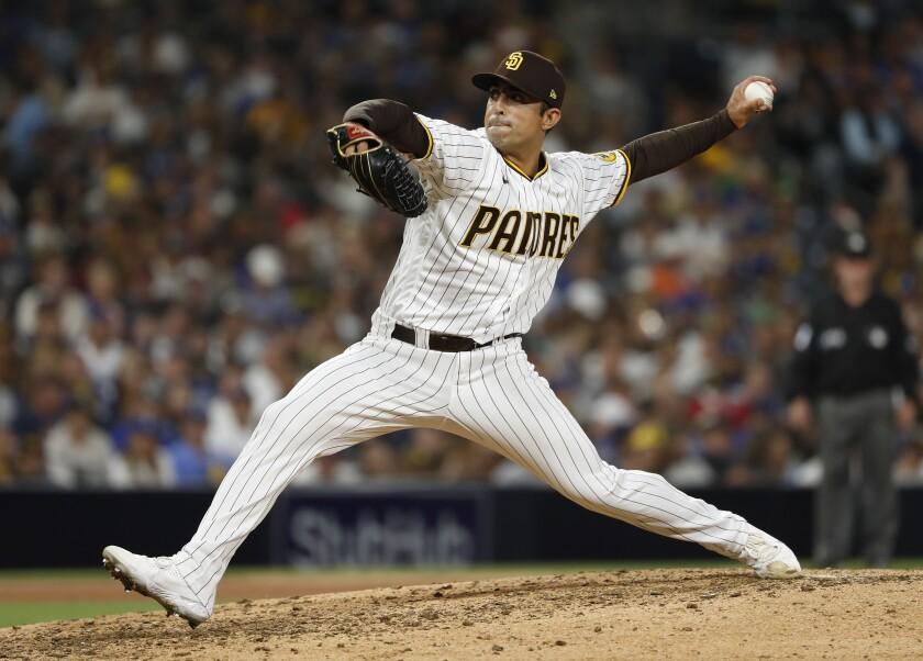 Padres pitcher Daniel Camarena